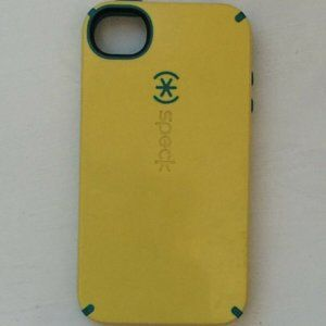 Yellow & Teal Blue Speck Case/Cover iPhone 4 Cell